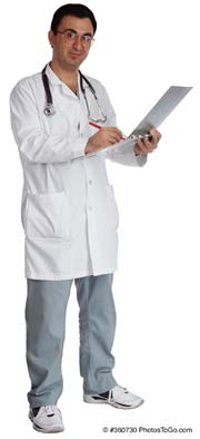 A doctor; Actual Size=180 pixels wide